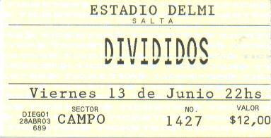 Divididos en Salta 13-06-2003