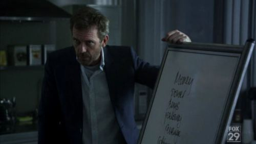House & his white board
