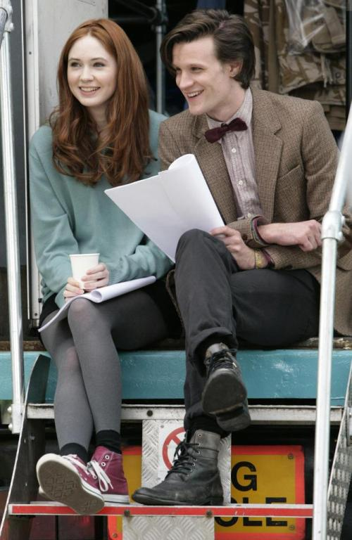Karen Gillian & Matt Smith
