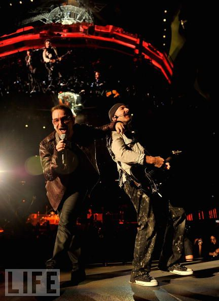 Bono y The Edge en Barcelona
